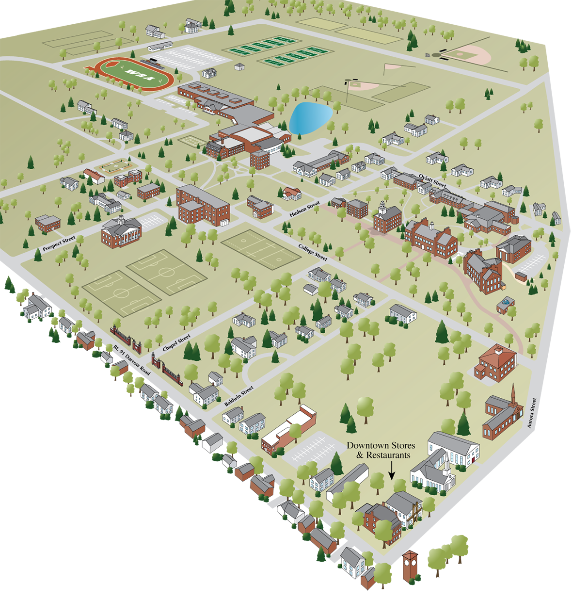 John Carroll University Campus Map.Campus Map Top Boarding School In Oh Western Reserve Academy